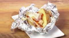 Patate con pomodori secchi, pancetta e emmental