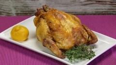 Pollo arrosto al limone e timo