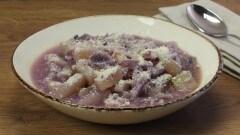 Minestra di cavolo rosso e patate