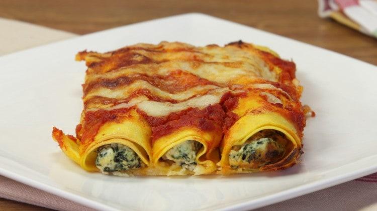 cannelloni con ricotta e spinaci cookaround