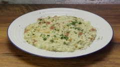 Risotto pinoli, prosciutto cotto e gorgonzola