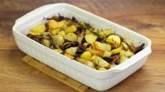 Patate e funghi cardoncelli al forno
