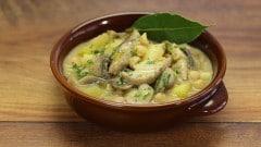Zuppa di ceci con funghi e patate cremosa