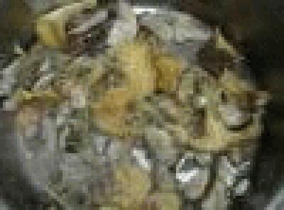 Raviolo aperto con funghi