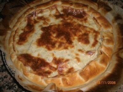 Torta salata con pere e gorgonzola