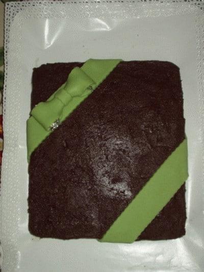 Torta al cioccolato e marzapane