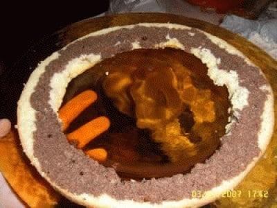 Pandispagna con mousse di torrone