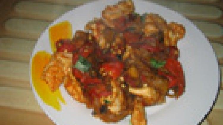 Pollo morbido ai peperoni