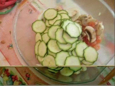 Terrina di gamberetti e zucchine