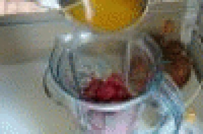 Granita di fragole di  mandorla