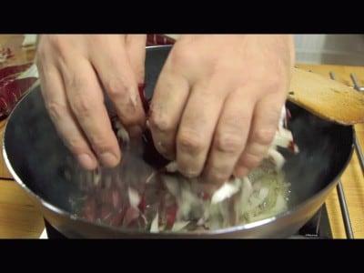 Pasta al radicchio rosso