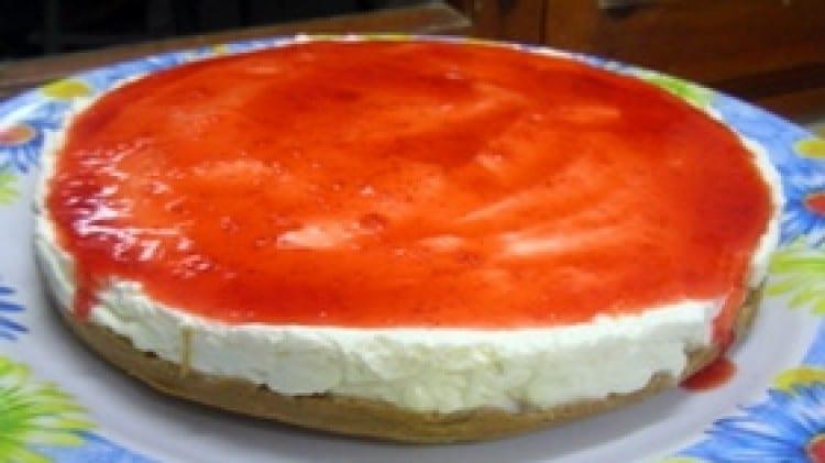 Cheesecake freddo ai frutti rossi