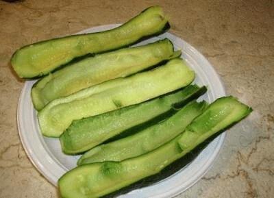 Barchette di zucchina e purè