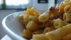 Sedanini con zucca, lenticchie e porro