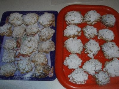 Biscotti ricoperti con i corn flakes