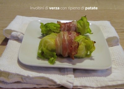 Involtini di verza con ripieno di patate