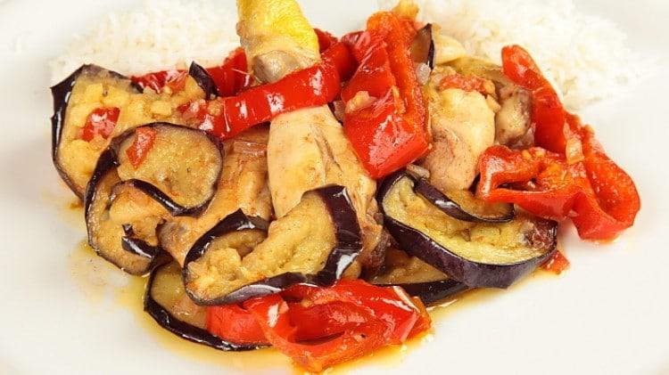 Khoresh bademjan - Stufato di pollo con verdure