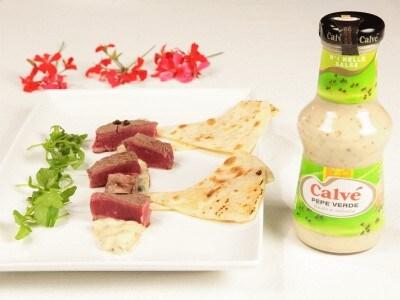 Bocconcini di filetto in salsa al pepe verde