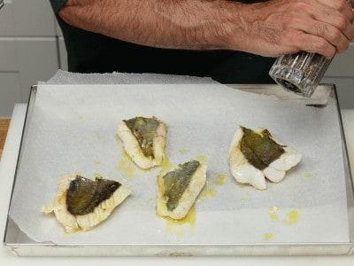 Filetto di san pietro con melanzane