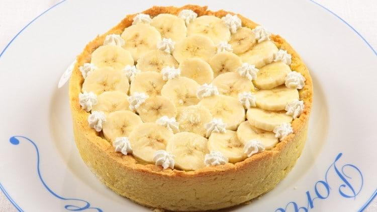 Crostata cremosa alle banane