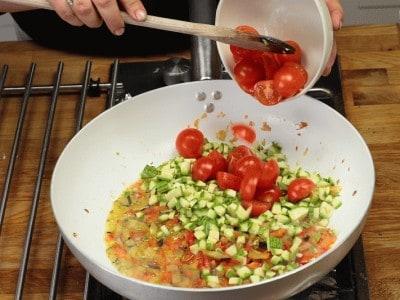 Tagliatelle con verdure miste