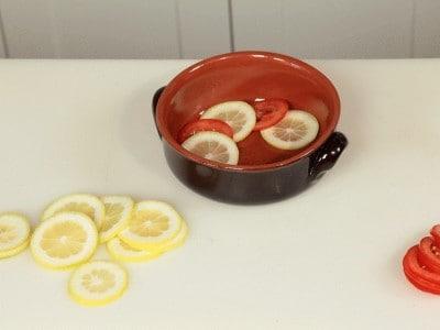 Alici in forno al limone e basilico