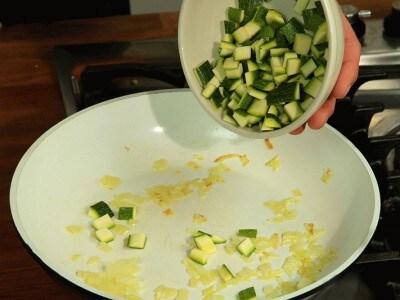 Crema fredda di zucchine e gamberi