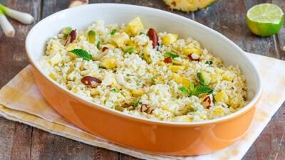 Insalata fredda di riso esotica
