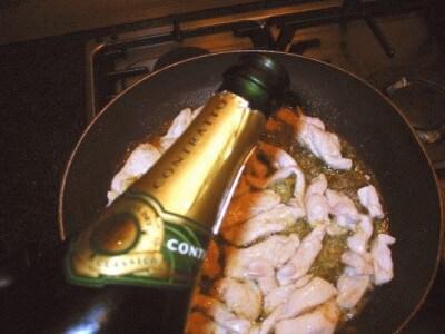 Insalatina tiepida di pollo ed ovuli