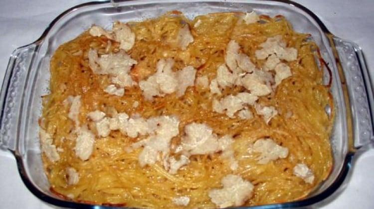 Teglia di spaghetti gratinati al tartufo bianco