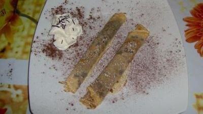 Sigari di crepes alla nutella