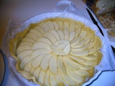 Torta di sfoglia e mele