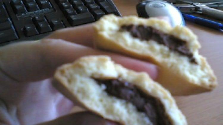 Biscotti cuore di nutella