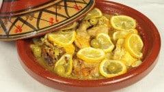 Pollo M'qalli con olive e limone