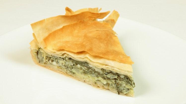 Focaccia con formaggio e spinaci