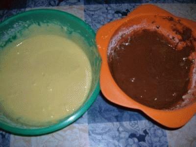 Brownie bicolore al cioccolato