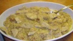 Cipolle brasate con lonza di maiale
