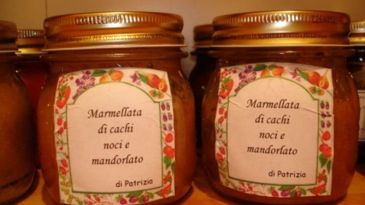 Confettura di cachi, noci e mandorlato