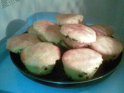 Muffin soffici con gocce di cioccolato