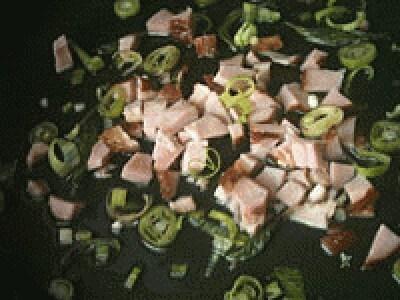 Bietole ripassate con prosciutto affumicato