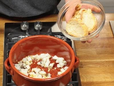 Zuppa di baccalà e peperoni
