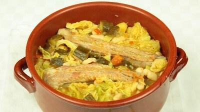 Costolette di maiale con verdure