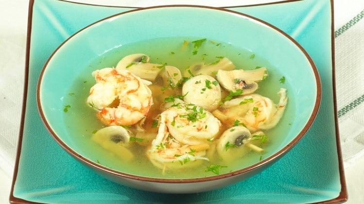 Zuppa speziata di gamberoni