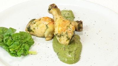 Fusi di pollo con spinaci
