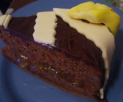 Torta all'earl grey e cioccolato