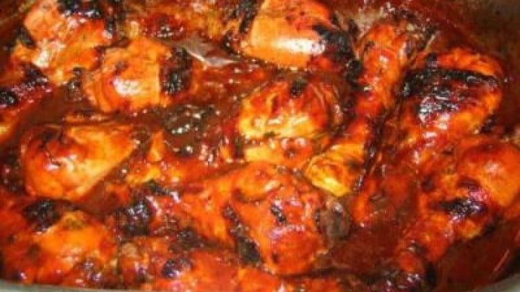 Barbecue Chicken e Potato Salad (Pollo americano con insalata di patate)