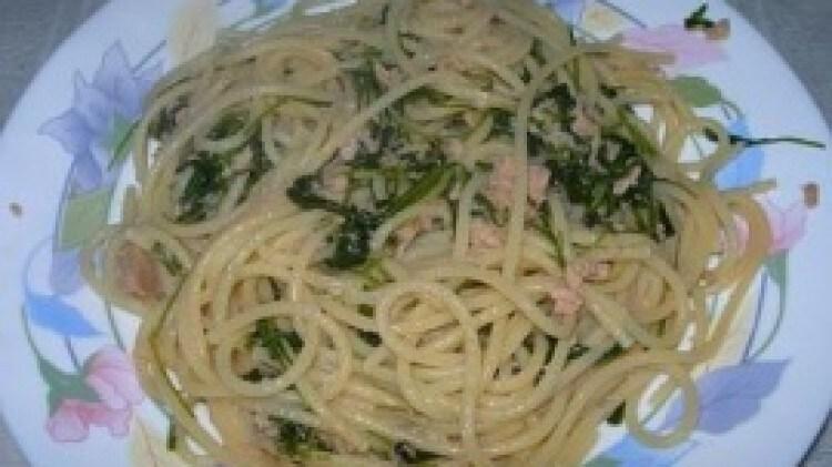 Spaghetti tonno e rughetta