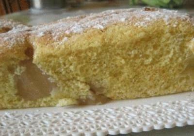 Plumcake leggero alle pere