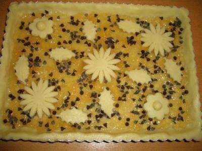 Crostata pere e cioccolato con frolla bianca