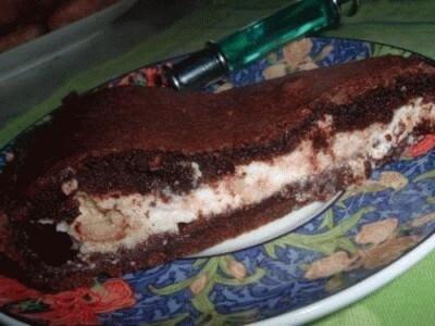 Torta nera con ricotta e pistacchi